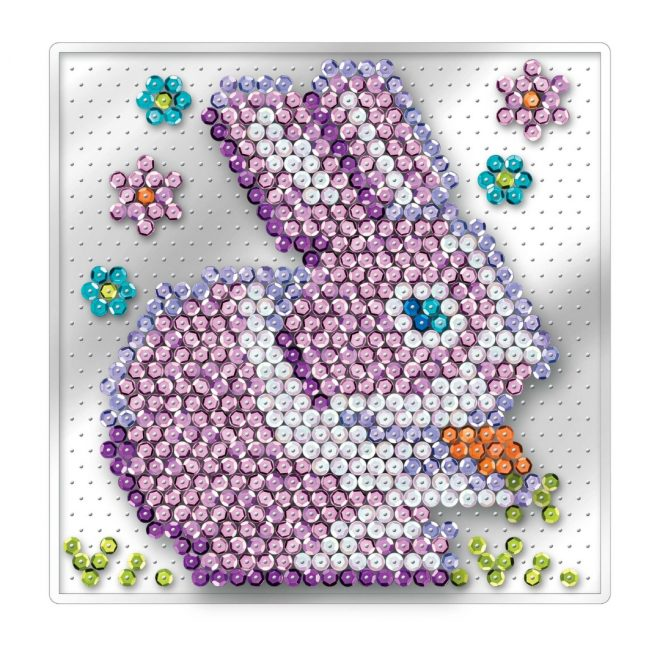 The Rabbit craft project from the Pin-free Sequin Art Range