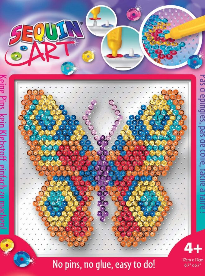 Sparkly Butterfly design from the Pin-free Sequin Art range