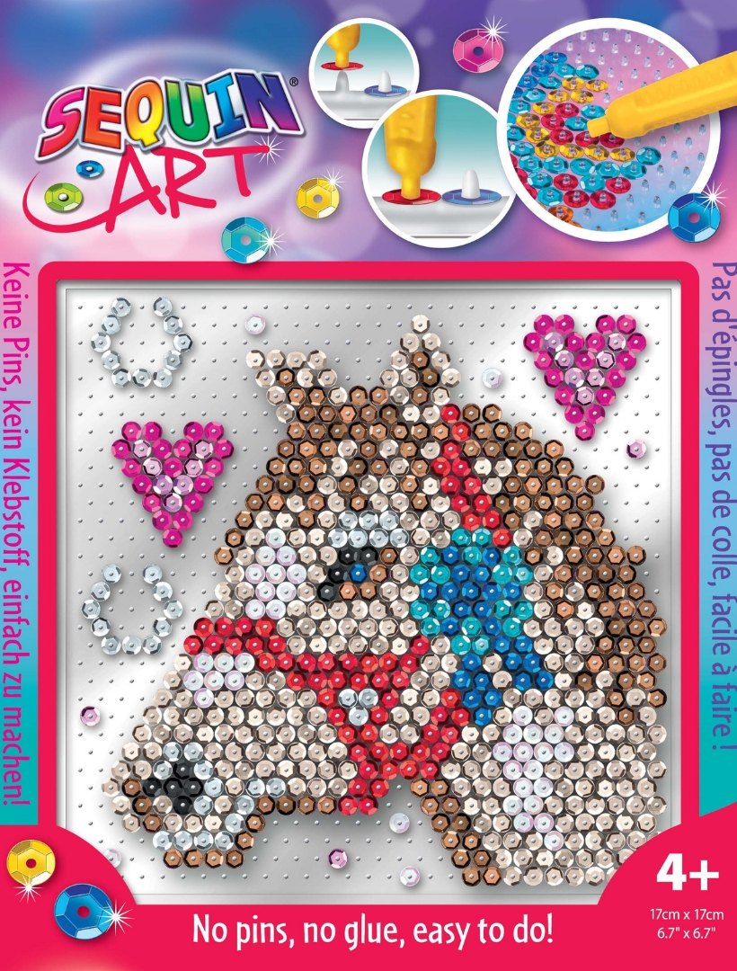 Horse design from the Pin-free Sequin Art collection