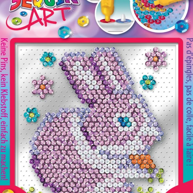 The Rabbit design from the Pin-free Sequin Art collection