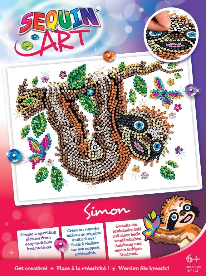 Simon Sloth Sequin Art craft project