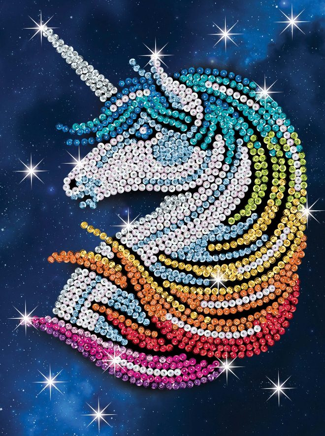 Sequin Art Stardust Unicorn craft project