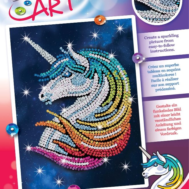 Sequin Art Stardust Unicorn craft project box 1923