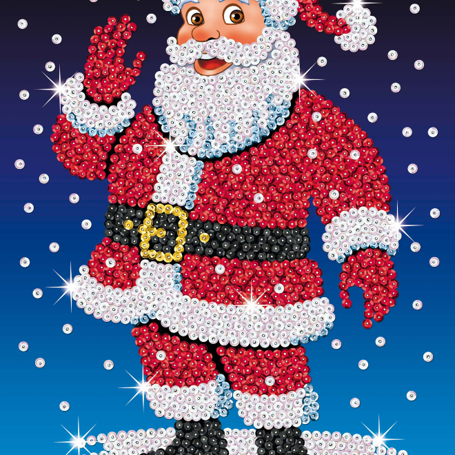 Sequin Art Santa craft kit from the Festive Fun range