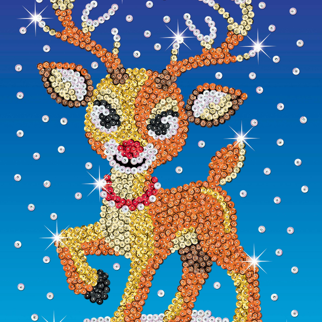 Sequin Art Ruby Reindeer craft kit