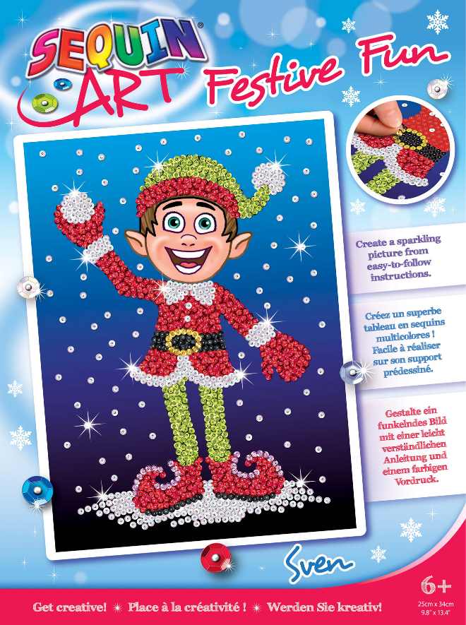 Sequin Art Sven Elf craft kit