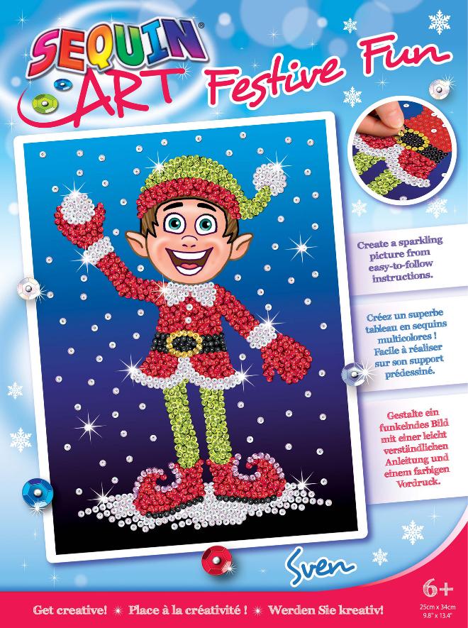 Sequin Art Sven Elf craft kit