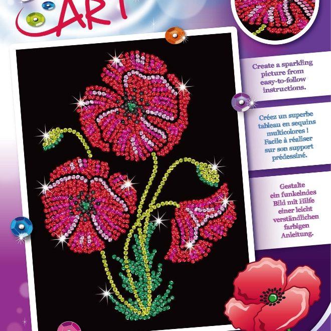 Sequin Art Poppies craft kit from the Purple Range