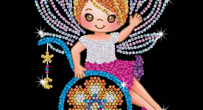 Izzy Fairy Sequin Art set loved by ToyLikeMe