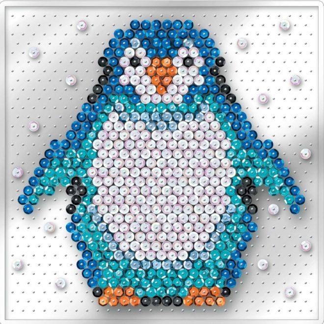 Pin-free Sequin Art Penguin design