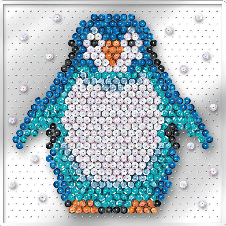 Pin-free Sequin Art Penguin design