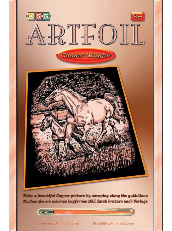 Scratch Art Horse & Foal project