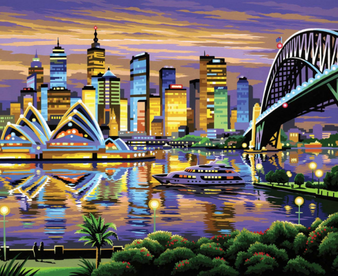 Beautiful Sydney painting by numbers picture