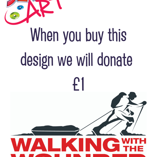 Sequin Art supports Walking With The Wounded charity