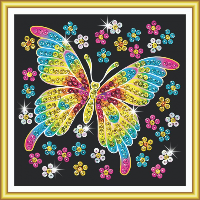 Butterfly craft kit from the Sequin Art 60 range