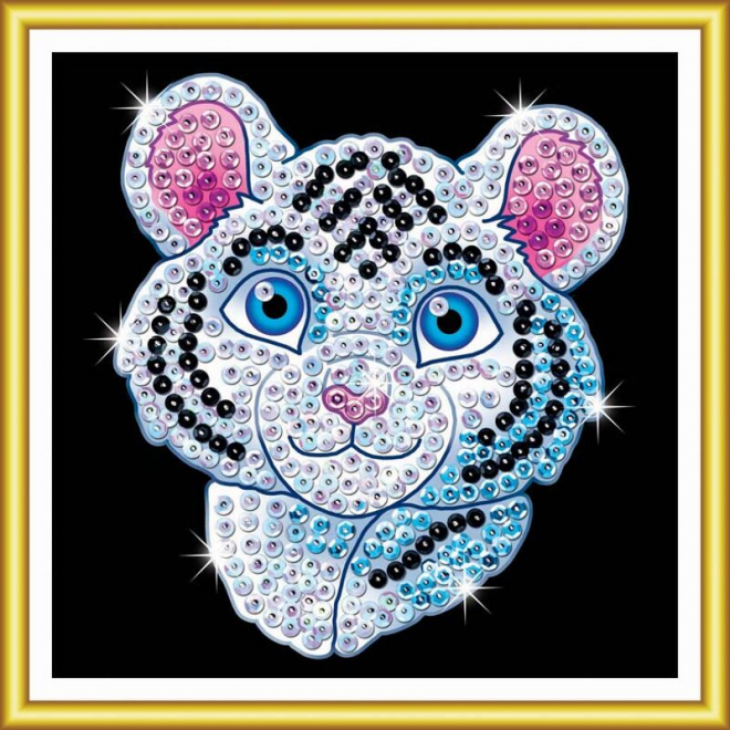 Sequin Art 60 White Tiger project for kids
