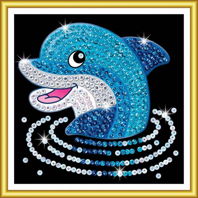 Sequin Art 60 Dolphin kids craft kit