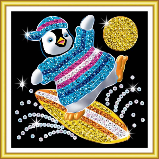 Sequin Art 60 Penguin craft kit for kids