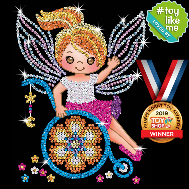 Sequin Art Izzy Fairy design wins a Gold Medal