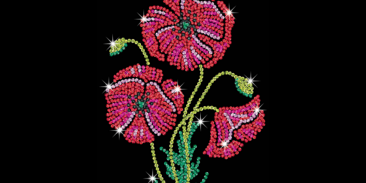 Sequin Art remembrance Poppies craft kit