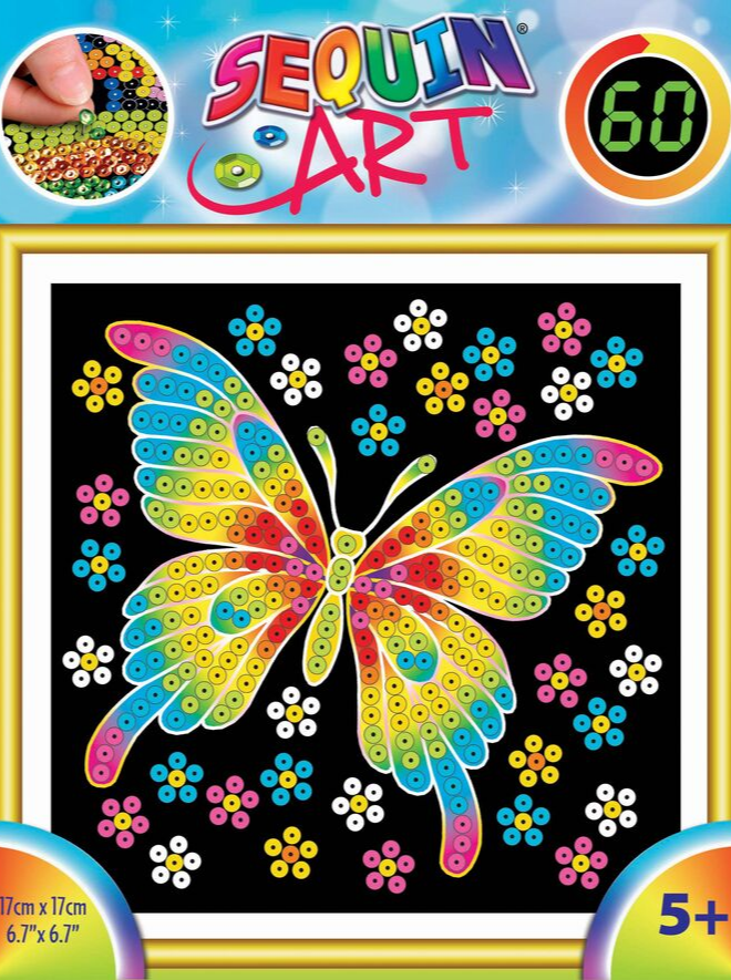 Sequin Art 60 Butterfly craft set