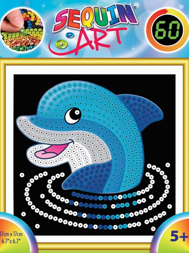 Sequin Art 60 Dolphin craft set
