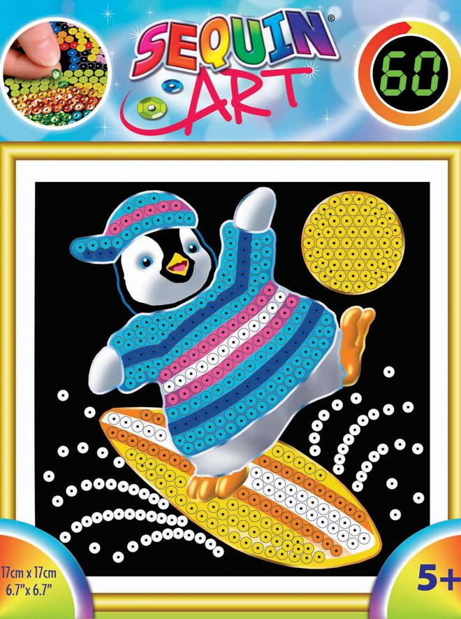 Sequin Art Penguin craft for kids