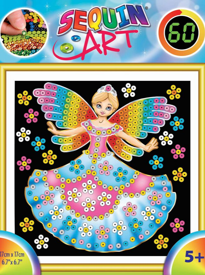 Sequin Art Princess craft project