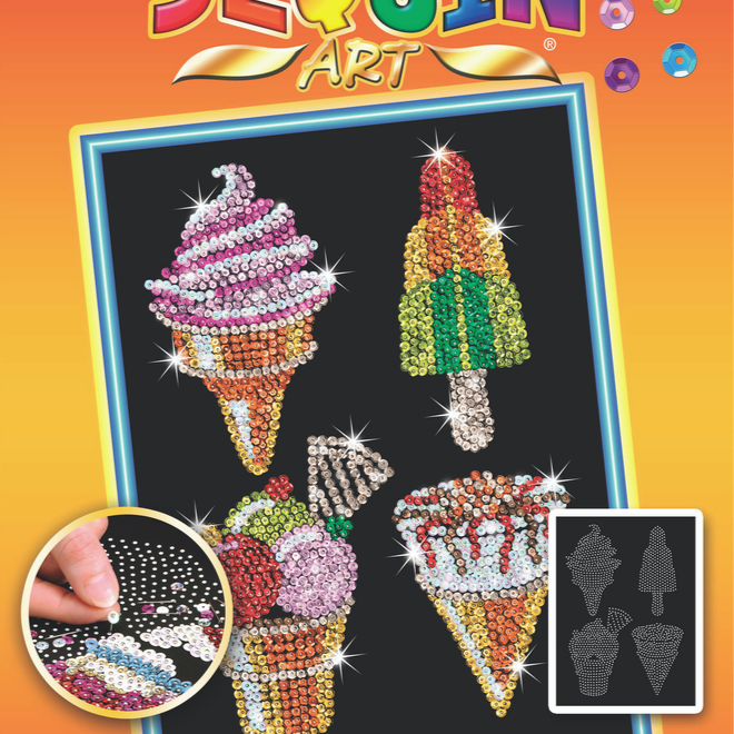 Sequin Art Ice Cream craft project