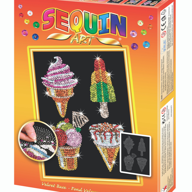 Sequin Art Ice Cream craft kit
