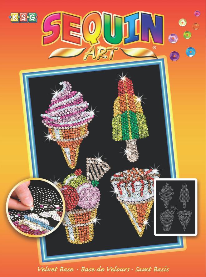 Sequin Art Ice Cream craft project