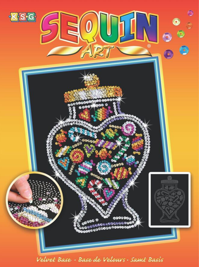 Sequin Art Candy Jar craft kit from the Orange range
