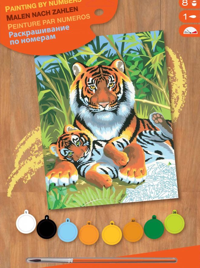 Painting by numbers Tigers project