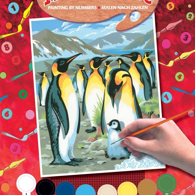 Painting By Numbers Penguins project