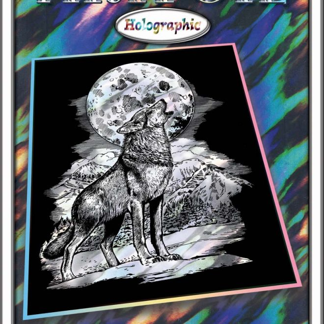 Scratch Art Wolf project