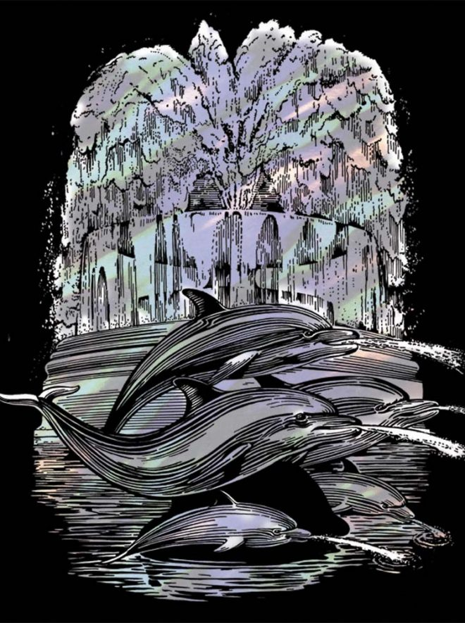 Scratch Art Fountain craft kit from the Artfoil Holographic range