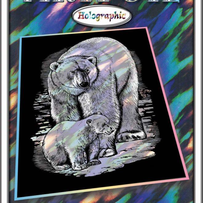Scratch Art Polar Bear project