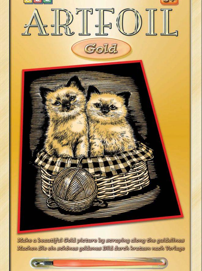 Scratch Art Kittens craft project
