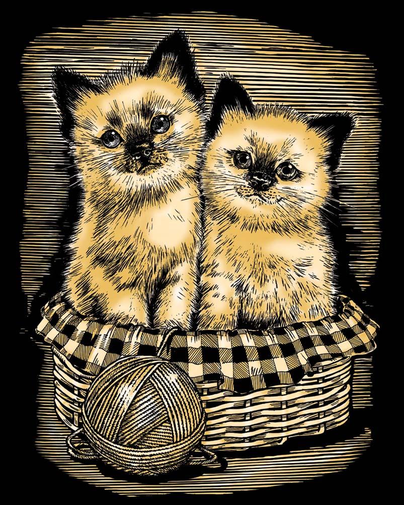 Kittens Scratch Art project