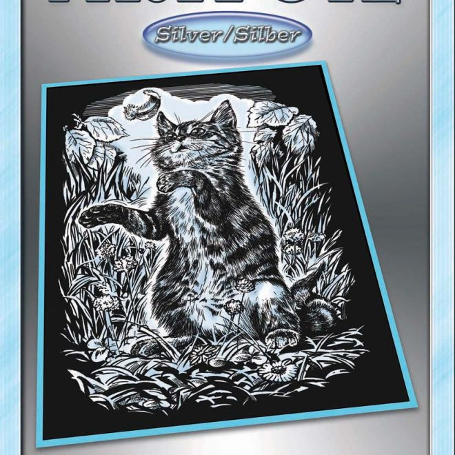 Scratch Art Kitten from the Artfoil Silver collection