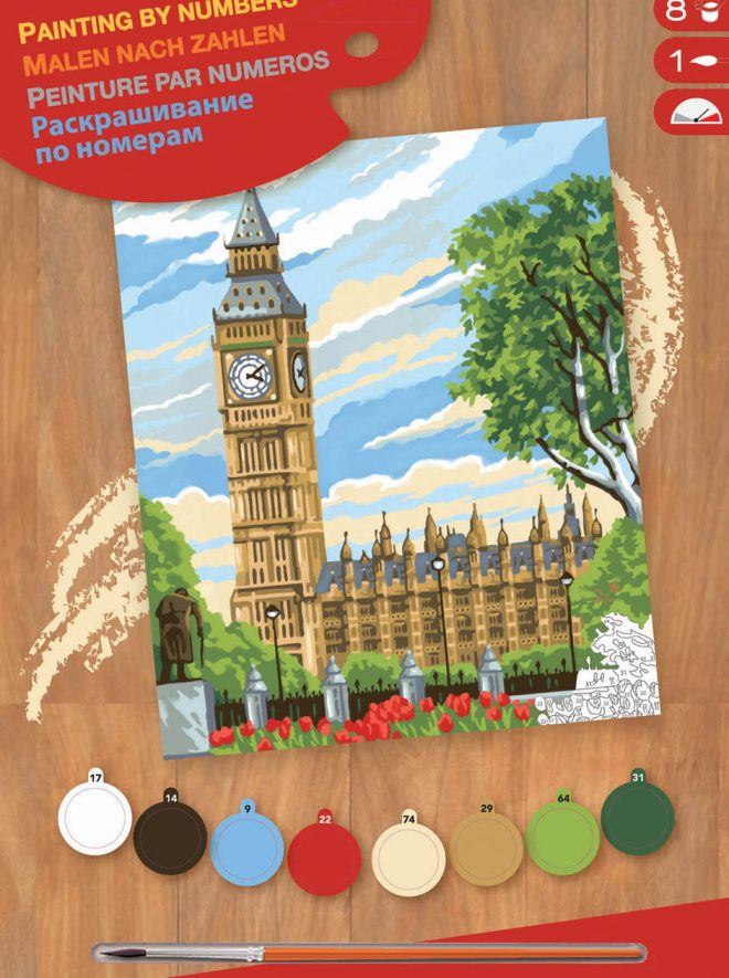 Painting by numbers Big Ben picture