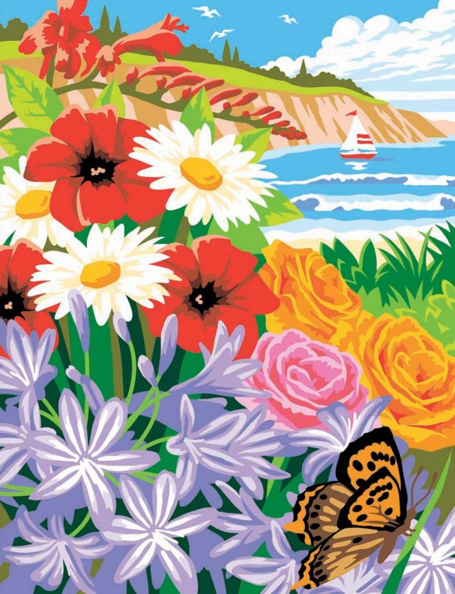 Painting By Numbers summer picture from the Seasons Box Set