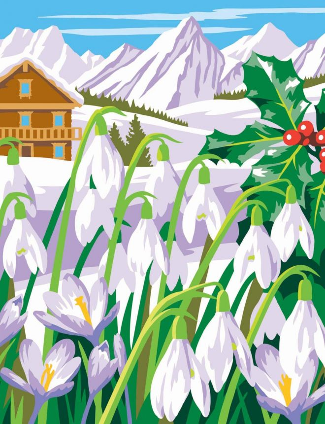 Painting By Numbers winter picture from the Seasons Box Set
