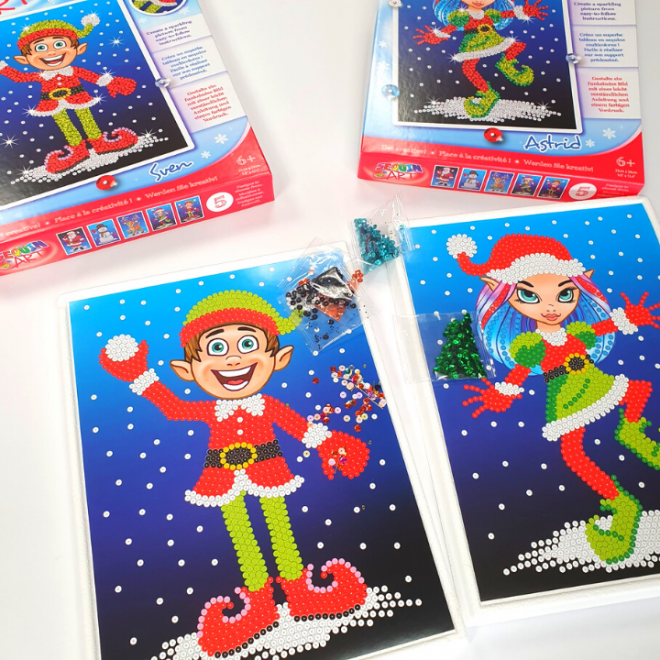 Sequin Art Christmas crafts from the Festive Fun range