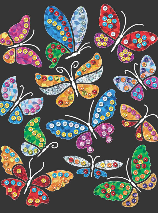 Sequin Art Butterflies design from the Foiltastic range