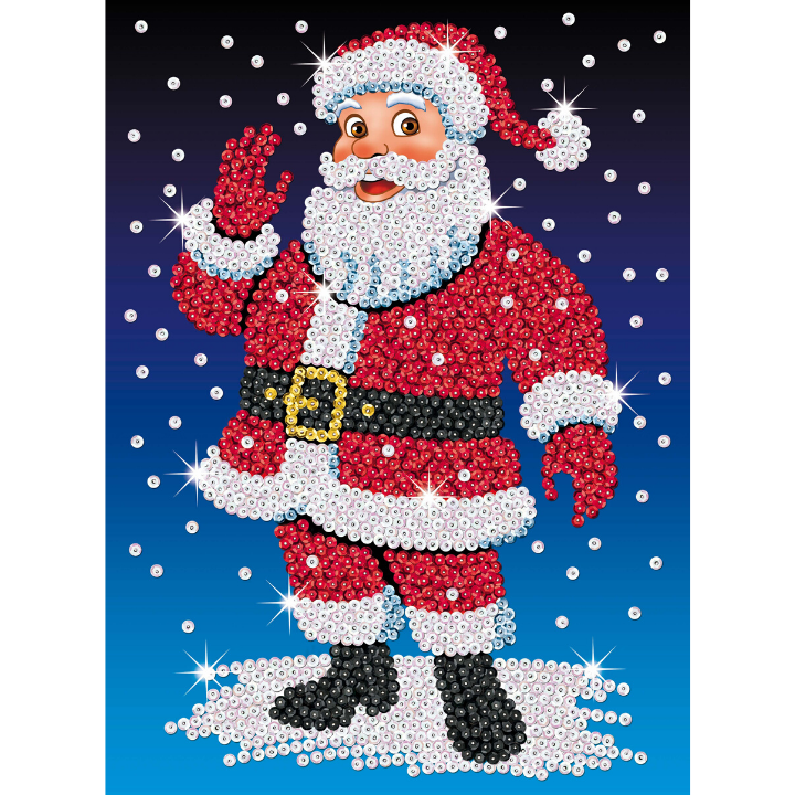 Sequin Art Santa craft from the Festive Fun range