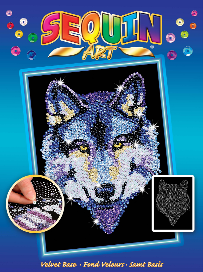 Sequin Art Wolf Box