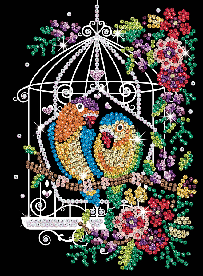 Srquin Art Birdcage craft kit from the Purple collection