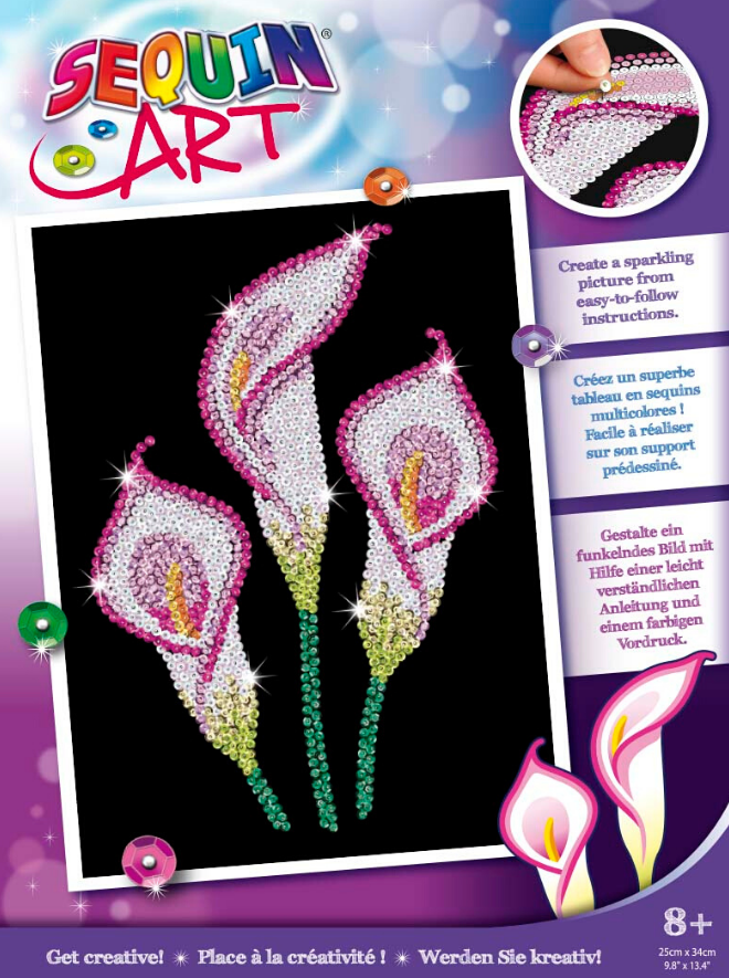 Sequin Art Calla Lily craft set from the Purple collection