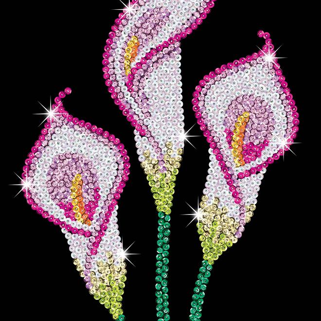Sequin Art Calla Lilly craft kit from the Purple Range